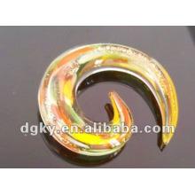 UV corpo jóias espiral personalizado orelha gauges plugues