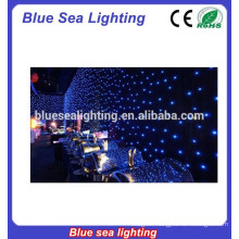 2*3m(H/L) indoor led star drop curtain /led curtain star backdrop