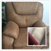 Cuero sintético poliester tela para el sofá