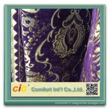 100 polyester canapé tissu de Chenille chenille dernier canapé design
