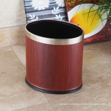 Нержавеющая сталь High-End Oval Open Top 12L Корзина для мусора (KA-10LB)