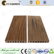 Wholesale woodgrain wave shape 3d embossing wpc decking