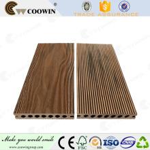 Atacado woodgrain onda forma 3d decking wpc decking