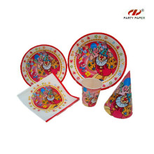 Happy Birthday Party Supplies Paper Tableware Set