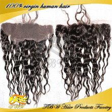 "2015 New Arrival Beauty High Quality 14inch 7A Grade Loose Wave Lace Frontal With Baby Hair(13""x4"")"