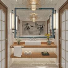 China custom design decorative wall bathroom mirror