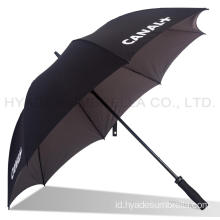 Dua Warna Tahan Angin Dual layer Straight Umbrella
