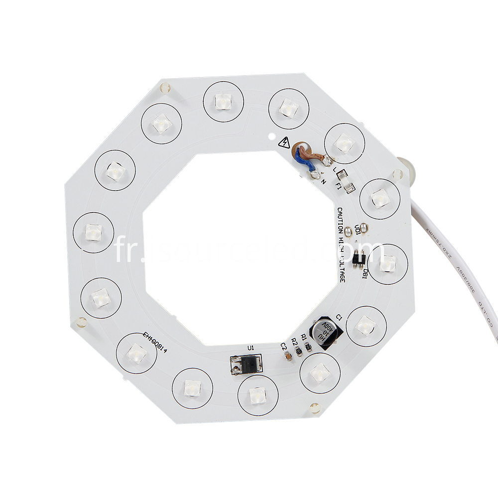 Front view of AC linear Lens white light 14W ceiling module