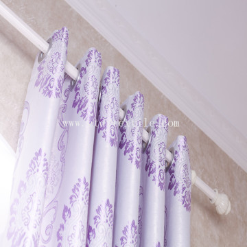 Polyester Black Yarn Jacquard Blackout Window Curtain