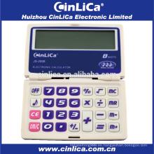 JS-2008 calculadora de bolsillo con pantalla grande de 8 dígitos con función de temporizador