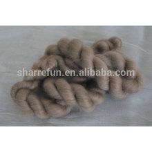 Cachemire brun mongol pur de chèvre de 100% dessus 16.5mic / 44-46mm