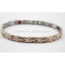 Bracelet à cordes à deux tons en or et en argent doré