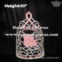 10in Height Queen Of Hope Pageant Ribbon Crowns