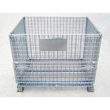 Almacenamiento de almacén de jaula de paletas de acero