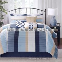 Madison Park Larson Комплект постельного белья для похудения из нескольких материалов с занавесками