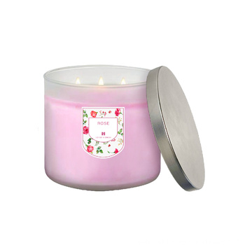 3 wick luxury soy wax private label custom large scented candles in bulk