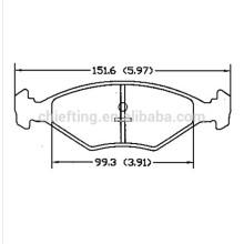 D350 305698151-5 pour VW Fiat Palio plaquette de frein salut-q