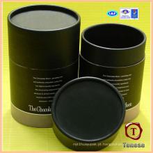 Caixa de presente de chocolate com cilindro de papel de alta qualidade