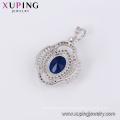 33393 elegant women jewelry silver color luxury big stone gemstone pendant