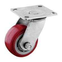 4 inch Roller Bearing PU Caster Wheel