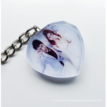 Wedding Favor Crystal Photo Keychain wedding gifts 2015.3D laser crystal keychain