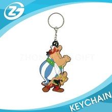 Customized Cartoon Rubber Keychain Funny Characters for KIDS