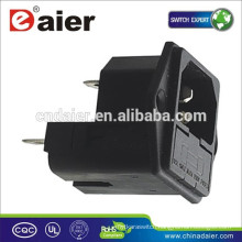 AC Power Socket With Double Fuses