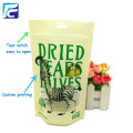 Dried food plastic fruit packaging bag with window