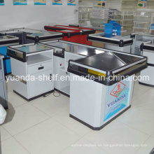 Venta caliente Supermercado Metal Cajero utilizado Checkout Counter