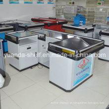 Contador de verificação geral de venda quente do caixa do metal do supermercado