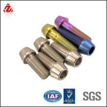 Personalizado de alta qualidade azul parafuso de titânio anodizado