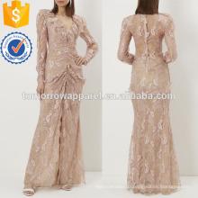 Вышитые цветочные кружева вечернее платье Производство Оптовая продажа женской одежды (TA4046D)