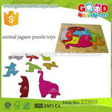 Wooden Educational Puzzles Game Toy Animal Jagsaw Puzzle Toys