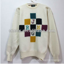 PK17ST225 embroidered fabric letter unisex christmas sweater