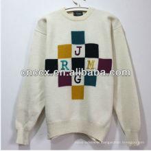 PK17ST225 tecido bordado carta unisex natal camisola