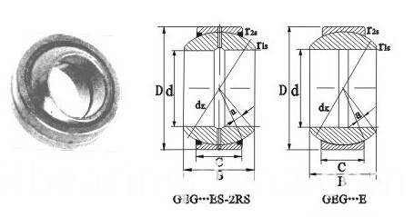 Radial Spherical Plain Bearings GEG-ES-2RS Series