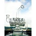Großhandel neue Design 8 Zoll Höhe Mini tragbare Recycler Glas Wasser Rohr