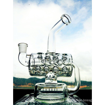 Wholesale New Design 8 Inch Height Mini Portable Recycler Glass Water Pipe