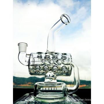 Atacado New Design 8 polegadas altura Mini portátil reciclador de água de vidro da tubulação
