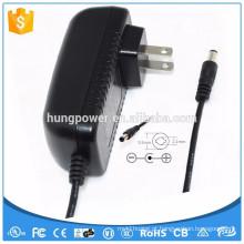 Fonte de alimentação UL Class 2 doe 6 switch adaptador de corrente alternada 18W 2A Dc 9 volt adapter