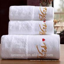 100% algodão absorvente de água conjunto de toalha de hotel