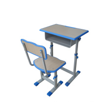 Student Desk with Maple Top and Adjustable Height Pedestal Frame