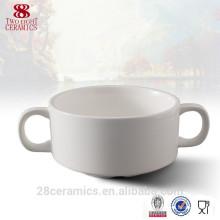 Sopera de sopa de porcelana caliente de la venta, taza de sopa de porcelana