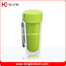 350ml Plastic Double Layer Cup Lanyard (KL-5022)