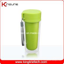 Cordão de copo de camada dupla de plástico de 350ml (KL-5022)