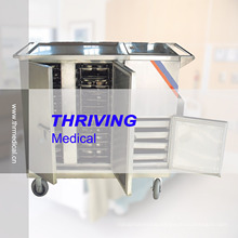 Hospital Stainless Steel Electric Heated Type Insulated Food Trolley