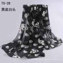 New Lady's Scarf Autumn Winter Korean Fashion Scarves skull Printed Scarfs