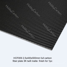 3K Full 100% Carbon Fiber Sheet/Plate for Drones/UAV thickness 2.5mm