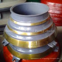 Revestimiento del tazón de fuente y manto-alto Contraste del manganeso Piezas de recambio