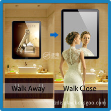 2015 best selling rounded corner tablet design crystal ultra thin light box/magic mirror light box